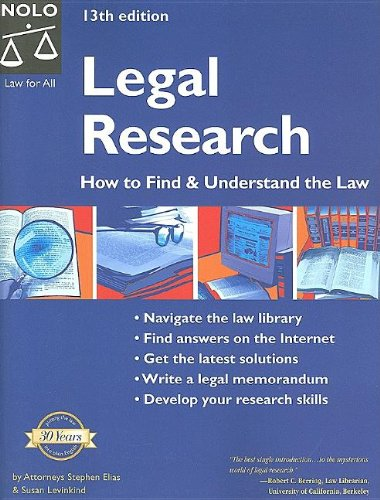 9781413303957: Legal Research: How to Find & Understand the Law