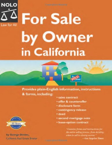 9781413304015: For Sale by Owner in California