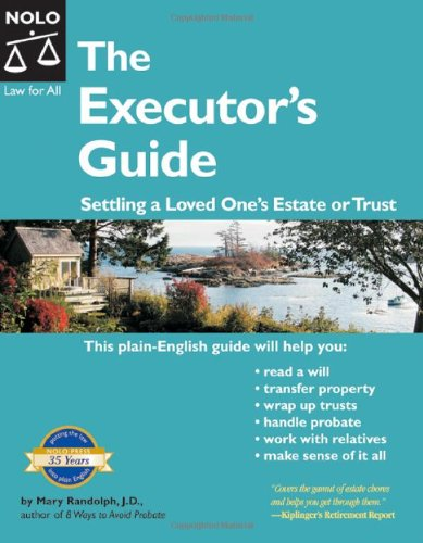 9781413304084: Executor's Guide: Settling a Loved One's Estate or Trust (2nd Edition)