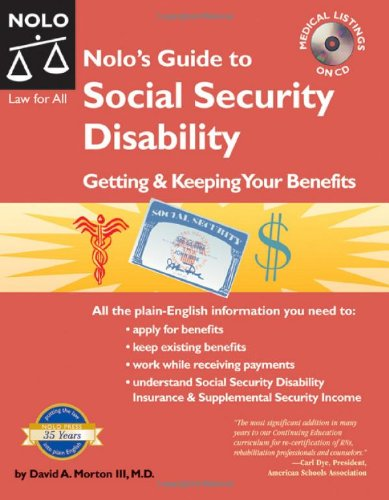 9781413304107: Nolo's Guide to Social Security Disability: Getting & Keeping Your Benefits