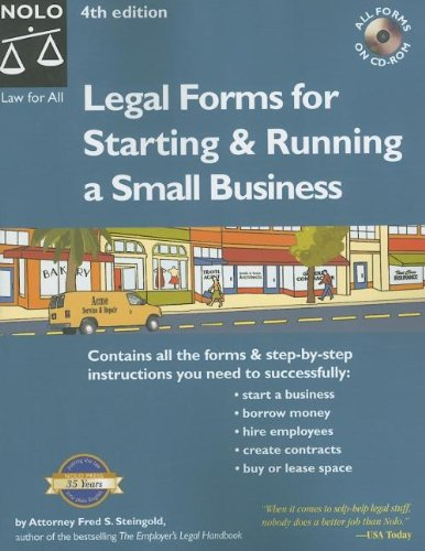 Legal Forms For Starting Running A Small Business - Where to buy legal forms