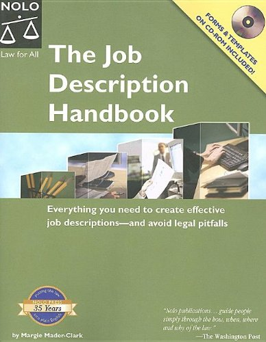 Job Description Handbook: Margie Mader-clark