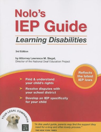 9781413305128: Nolo's IEP Guide: Learning Disabilities