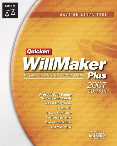 9781413305272: Quicken Willmaker Plus 2007 Edition: Estate Planning Essentials (Book with CD-ROM)
