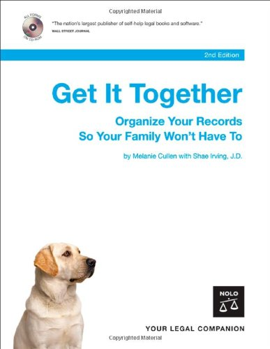 9781413305630: Get It Together: Organize Your Records So Your Family Won't Have To (Book with CD-Rom)