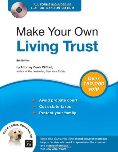 9781413305692: Make Your Own Living Trust (Book & CD-ROM)