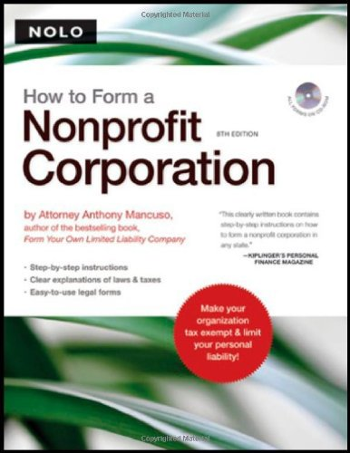 9781413306477: How to Form a Nonprofit Corporation (book w/ CD-Rom)