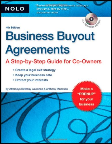 9781413306484: Business Buyout Agreements: A Step-by-Step Guide for Co-Owners