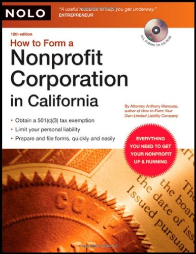 9781413306491: How to Form a Nonprofit Corporation in California (book with CD-Rom)