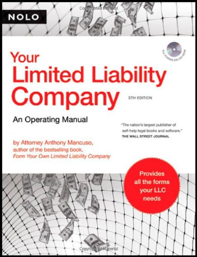 9781413306514: Your Limited Liability Company: An Operating Manual (book with CD-Rom)