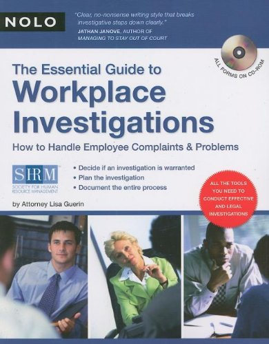 9781413306910: The Essential Guide to Workplace Investigations: How to Handle Employee Complaints & Problems