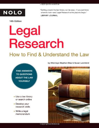 9781413306934: Legal Research: How to Find & Understand the Law