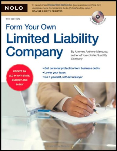 9781413307085: Form Your Own Limited Liability Company (book with CD-Rom)