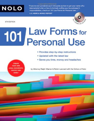 9781413307122: 101 Law Forms for Personal Use (Book & CD-Rom)