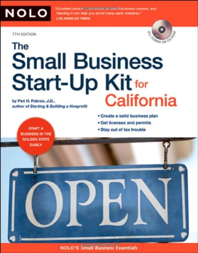 9781413307580: Small Business Start-Up Kit for California