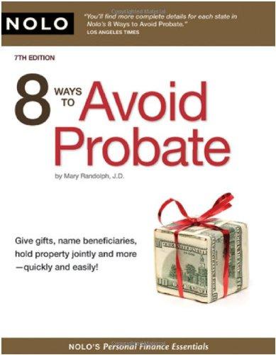 9781413308570: 8 Ways to Avoid Probate (Personal Finance Essentials)