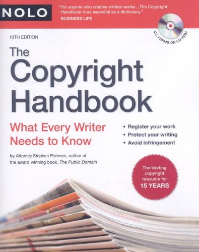 9781413308938: The Copyright Handbook: What Every Writer Needs to Know [With CDROM]