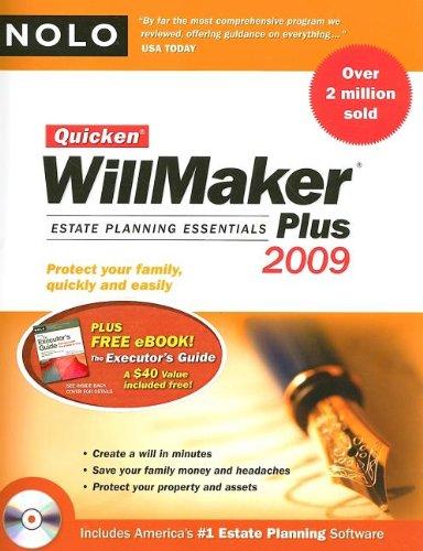 9781413309027: Quicken Willmaker Plus 2009 Edition: Estate Planning Essentials (Book with Software)
