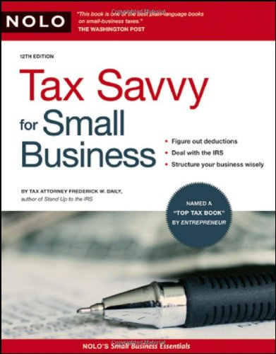 9781413309034: TAX SAVVY FOR SMALL BUSINESS