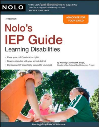 9781413309393: NOLO's IEP Guide: Learning Disabilities