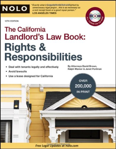 9781413309409: California Landlord's Law Book: Rights & Responsibilities