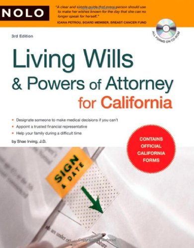 9781413309577: Living Wills & Powers of Attorney for California