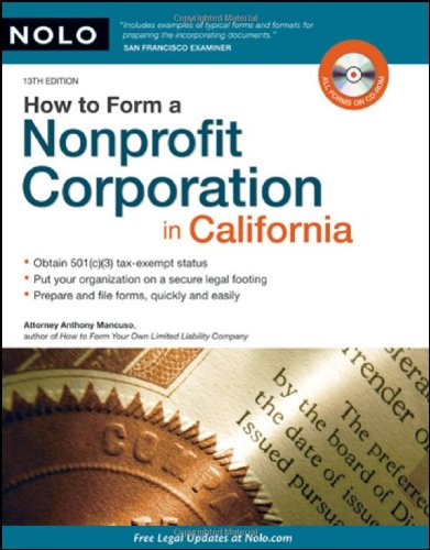 9781413310276: How to Form a Nonprofit Corporation in California