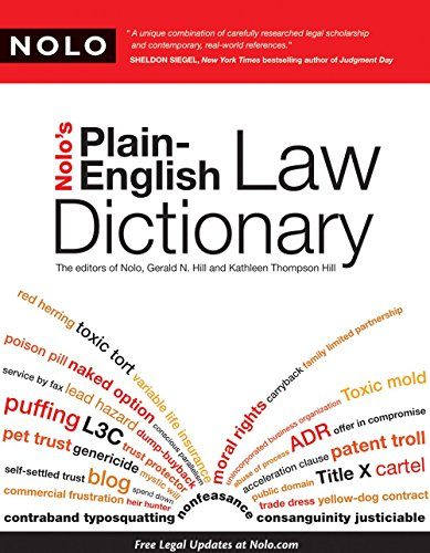 9781413310375: Nolo's Plain-English Law Dictionary