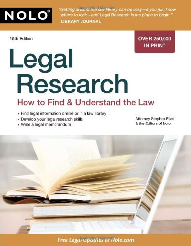 9781413310528: Legal Research: How to Find & Understand the Law