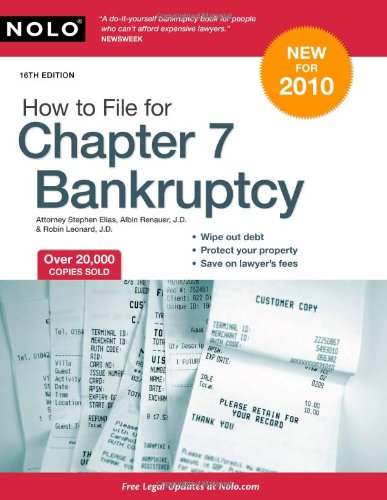 9781413310603: How to File for Chapter 7 Bankruptcy