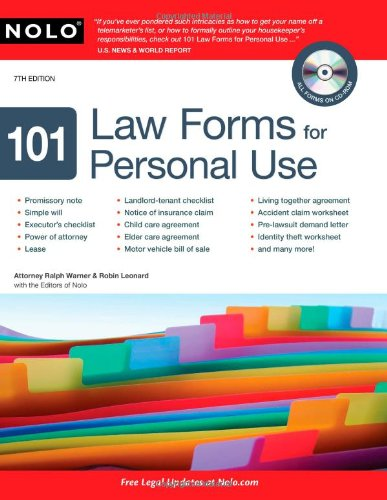 9781413310665: 101 Law Forms for Personal Use