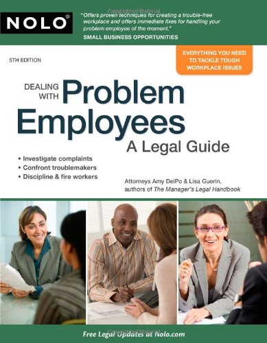 9781413310689: Dealing With Problem Employees: A Legal Guide