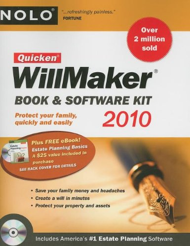 9781413310733: Quicken Willmaker 2010 Edition: Book & Software Kit (Quicken Willmaker Plus)