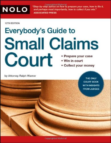 9781413311020: Everybody's Guide to Small Claims Court