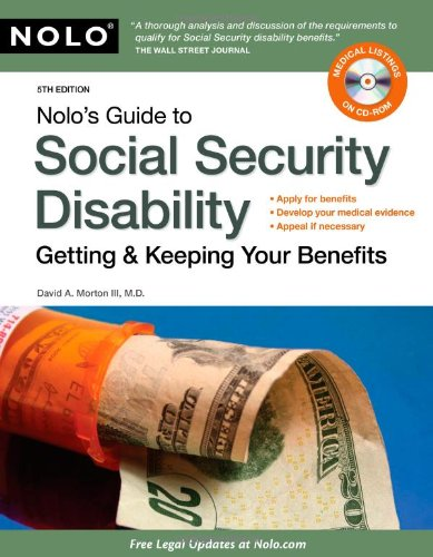 9781413311044: Nolo's Guide to Social Security Disability: Getting & Keeping Your Benefits