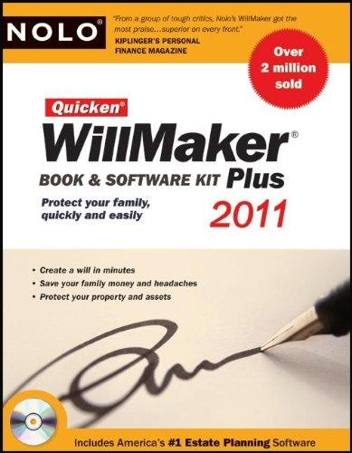 9781413312744: Quicken Willmaker 2011 Edition: Book & Software Kit (Quicken Willmaker Plus)