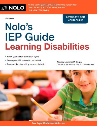 9781413313239: Nolo's IEP Guide: Learning Disabilities