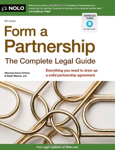 9781413313925: Form a Partnership: The Complete Legal Guide