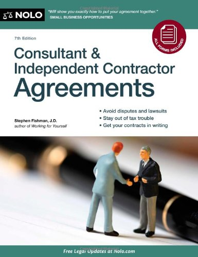 9781413316223: Consultant & Independent Contractor Agreements