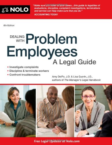 9781413316230: Dealing With Problem Employees: A Legal Guide