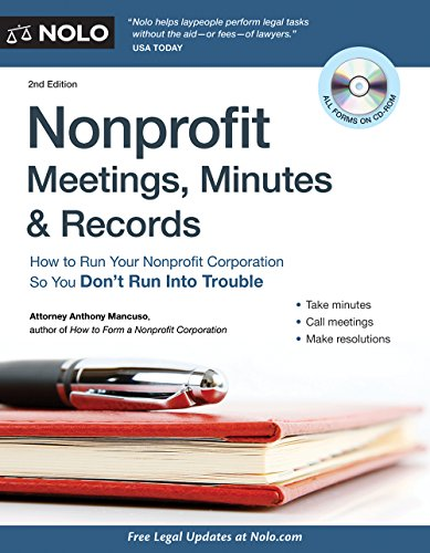 9781413316285: Nonprofit Meetings, Minutes & Records: How to