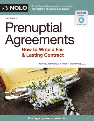 9781413316308: Prenuptial Agreements: How to Write a Fair & Lasting Contract