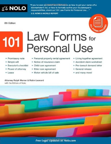 9781413316346: 101 Law Forms for Personal Use
