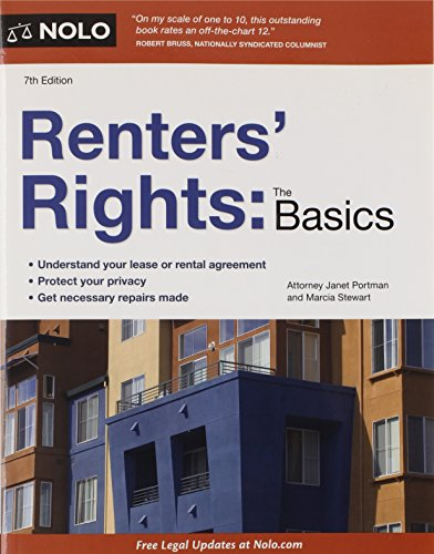 Renters' Rights: The Basics (1413316905) by Janet Portman Attorney; Marcia Stewart