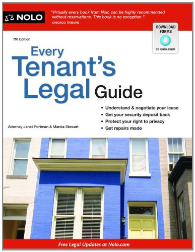 Every Tenant's Legal Guide (1413317154) by Janet Portman Attorney; Marcia Stewart