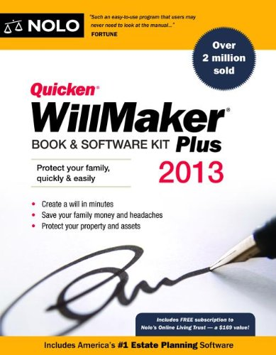 9781413317558: Quicken Willmaker Plus 2013 Edition: Book & Software Kit