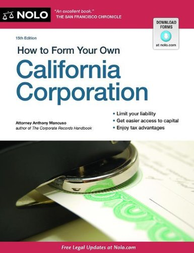 9781413318272: How to Form Your Own California Corporation