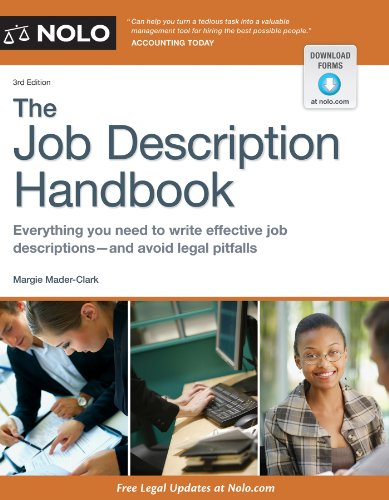 Job Description Handbook, The: Mader-Clark, Margie