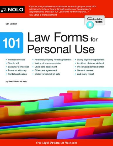 9781413319132: 101 Law Forms for Personal Use