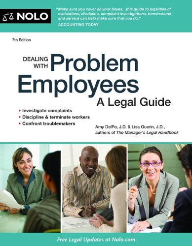 9781413319194: Dealing With Problem Employees: How to Manage Performance & Personal Issues in the Workplace
